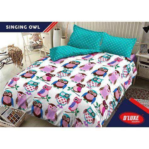 Sprei Kintakun D Luxe 160x200 grosir sprei kintakun d luxe singing owl ukuran 180x200
