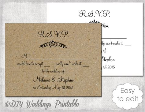 free rustic chic templates for rsvp cards rustic wedding rsvp template leaf garland