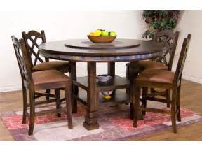 Lazy Susan Dining Room Table by Sunny Designs Dining Room Santa Fe 60 Inches Round Table