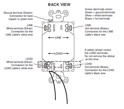 combination gfci outlet wiring diagram wiring diagram