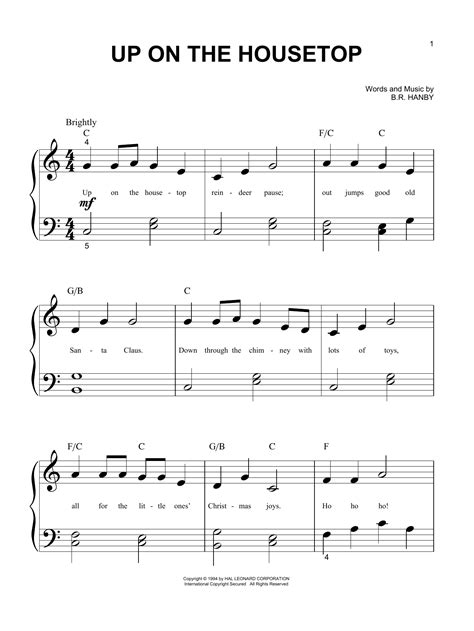 up on the house top up on the housetop sheet music direct