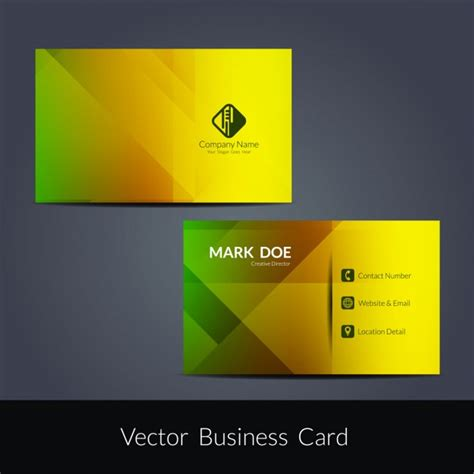 colorful business card template colorful business card template vector free