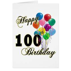 happy 100th birthday gifts and birthday apparel greeting card zazzle
