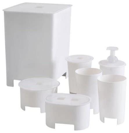 bathroom accessories sets ikea viren 7 piece bathroom set contemporary bathroom