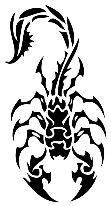 Scorpion Tribal Outline by Top 10 Scorpio Designs To Die For