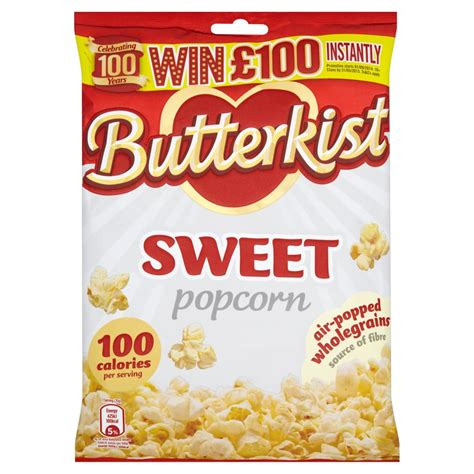Butterkist Sweet Popcorn 150g   Sharing Crisps   Crisps
