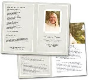 memorial handout template funeral memorial service program