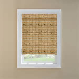 Lowes Bamboo Roman Shades - shop custom size now by levolor 36 in w x 72 in l natural bamboo light filtering natural roman