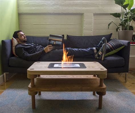 How To Build An Ethanol Fireplace by Diy Fireplace Coffee Table Keeps Your Living Room Toasty