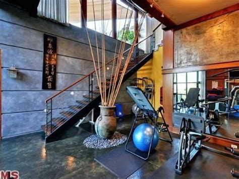 celebrity home gyms ryan phillippe s los angeles home gym home gym exercise