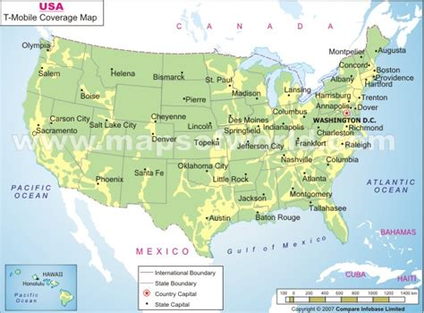 cell phone coverage map usa map of usa mobile coverage