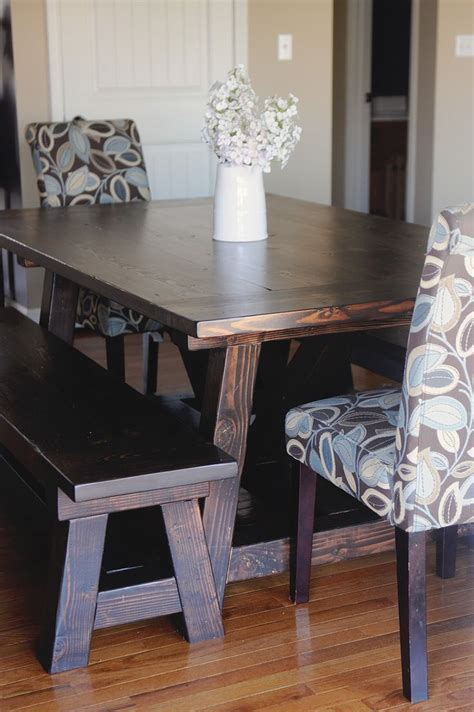 definately table love kona stain misters sister diy handmade farmhouse table benches melrose