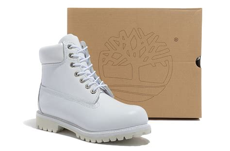 Timberlands Boots Damen 1466 by Timberlands 6 Inch Classic Premium 10061 All White Mens