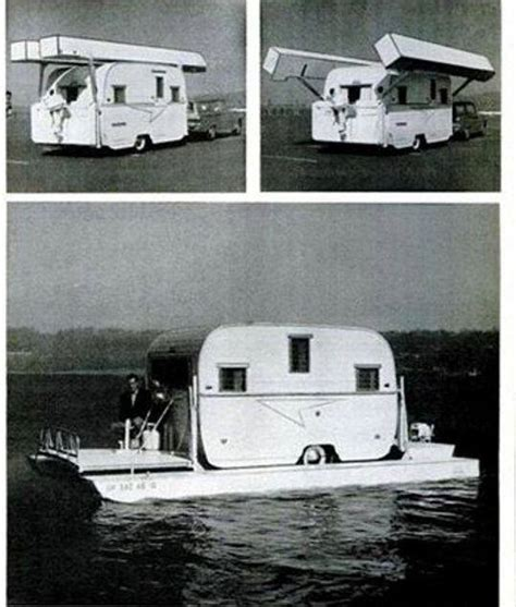 houseboat on trailer vintage hibious rv travel trailer houseboat