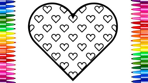 coloring hearts coloring pages hearts how to draw and color