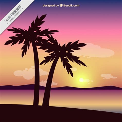 colorful palm trees palm trees with colorful background vector free