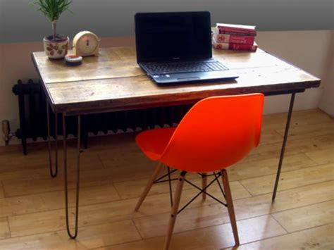 vintage industrial desk hairpin legs
