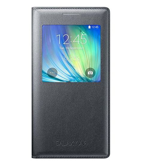 Flip Cover Samsung Galaxy A5 2 samsung synthetic flip cover for samsung galaxy a5 black buy samsung synthetic flip
