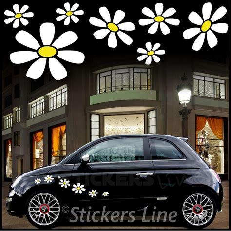 adesivi fiori per auto kit adesivi margherite adesivi fiori per smart fiat 500