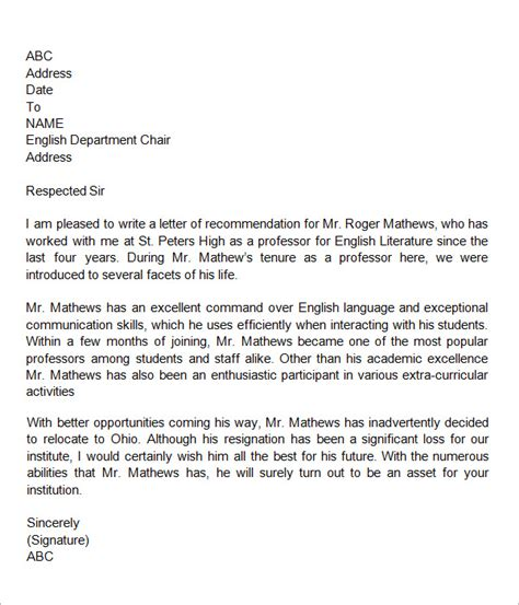 sample job recommendation letter for coworker military bralicious co