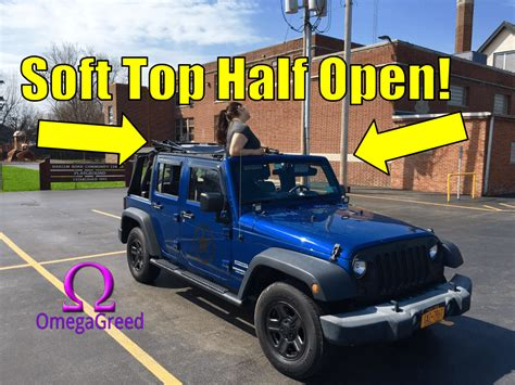 jeep wrangler open top jeep wrangler unlimited soft top halfway partially open