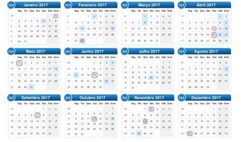 Calendario 2017 Feriados Sp Calend 225 2017 Feriados Para Baixar E Imprimir Toda