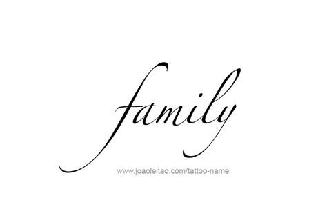 the word family tattoo designs family name designs tattoos with names