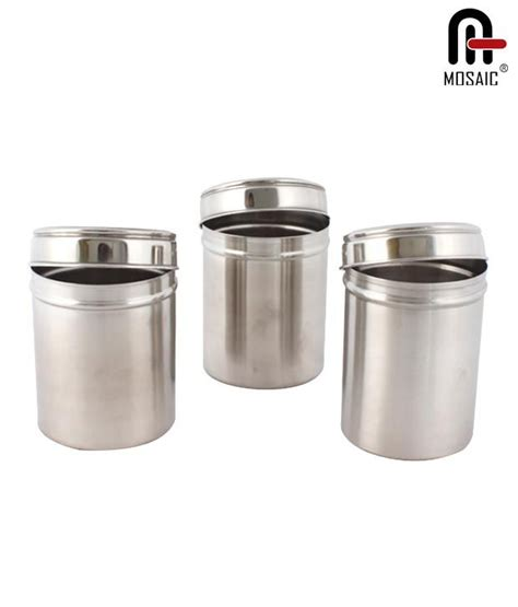 Small Mosaic Canister2 mosaic canister set of 3 650 ml buy at best price in india snapdeal