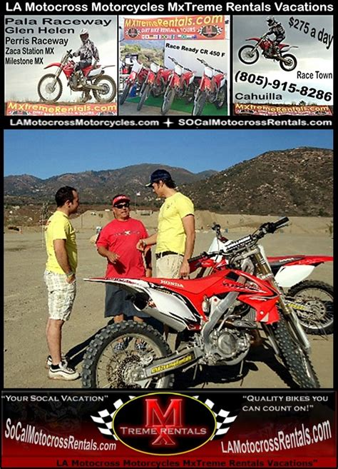 motocross bike hire dirt bike vacation indian wells ca la los angeles