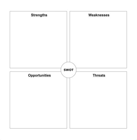 swot analysis free template word 8 blank swot analysis templates free sle exle