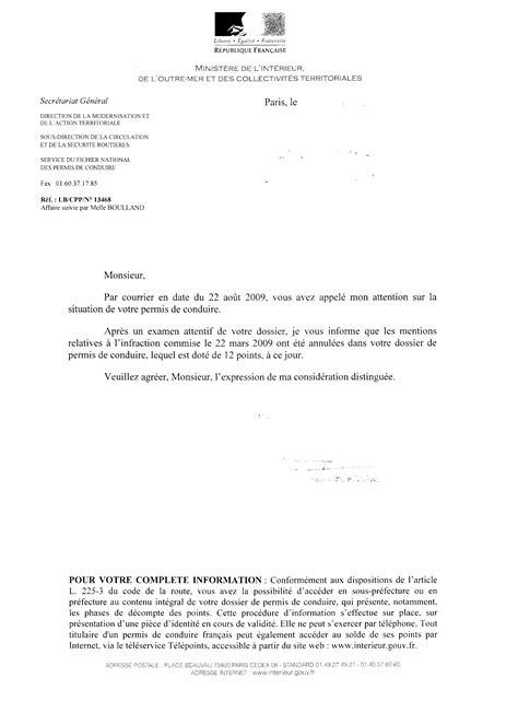 Exemple De Lettre R Ponse A Une R Clamation Client retrait de points de permis pour une infraction en v 233 lo