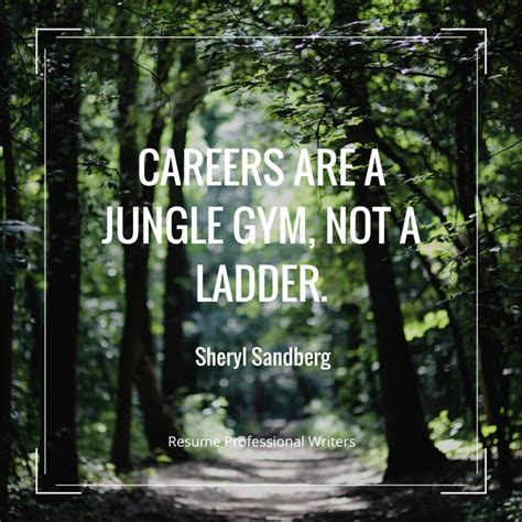 quot careers are a jungle not a ladder quot sheryl sandberg resumeprofessionalwriters resume