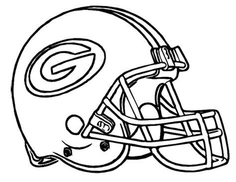 Green Bay Coloring Pages football helmet green bay packers coloring page