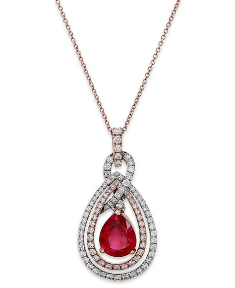 9 4 Ct Ruby effy collection rosa by effy ruby 1 3 4 ct t w and