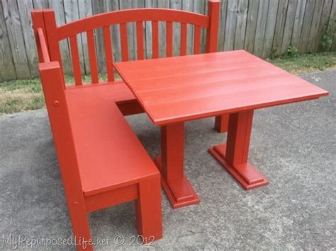 toddler bench table diy kids red bench table furniture redos pinterest