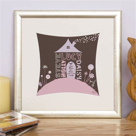 Lu Tidur Home Sweet Home personalised new home moving house print by fromlucy notonthehighstreet