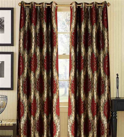 Maroon And Gold Curtains wraps n drapz maroon and gold damask door curtain by wraps n drapz nature and florals