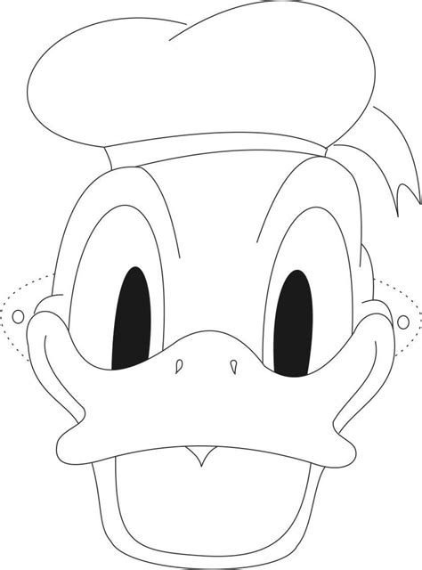 duck head coloring page donald duck head coloring pages
