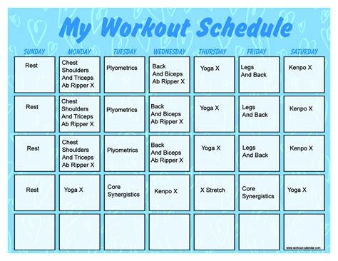 printable gym schedule turbo jam schedule search results calendar 2015