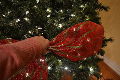 wide mesh ribbon for christmas tree kristen s creations decorating a tree with mesh ribbon tutorial