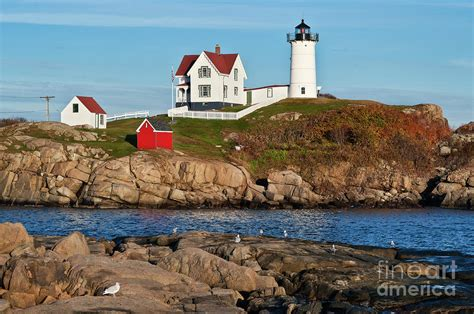 Nubble Light by Nubble Lighthouse By Greim