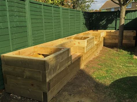 raised garden bed with bench seating les mable s raised beds with bench seats from new railway