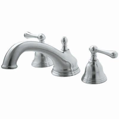 goose shaped brushed nichel kitchen faucet pegasus f shape spout 2 handle deck mount roman tub faucet