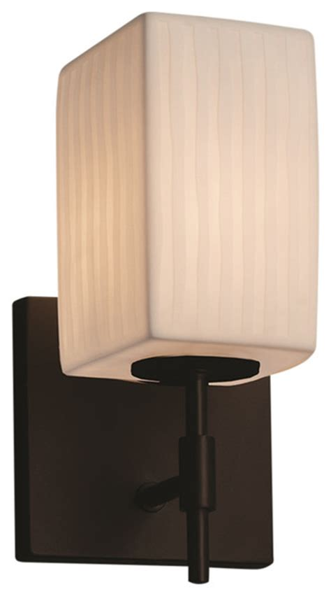 justice design llc limoges union 1 light wall sconce square with flat wall