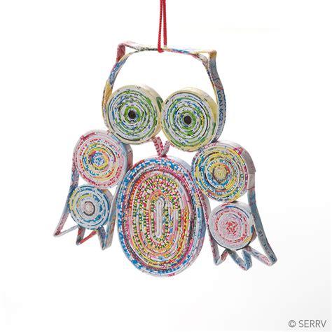 christmas ornaments owl colorwrap ornament