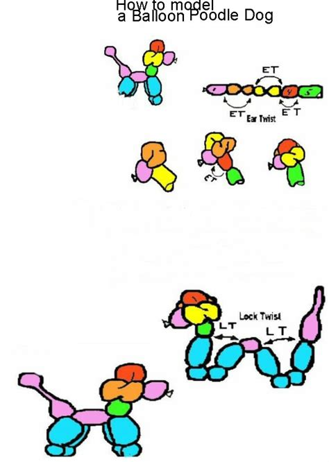 printable directions on how to make balloon animals make your own balloon models clown bluey