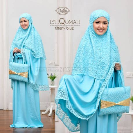 Gaun Bordir Am 04 High Quality istiqomah t blue pusat busana gaun pesta muslim modern