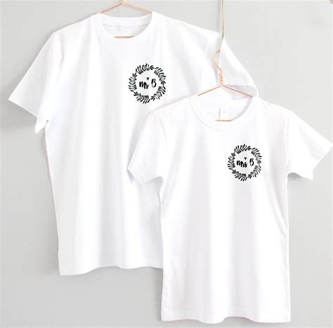 Wedding T Shirts by Mr And Mrs Personalised Wreath Wedding T Shirts By