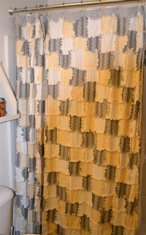 quilted shower curtains reverse rag quilted shower curtain quilting pinterest