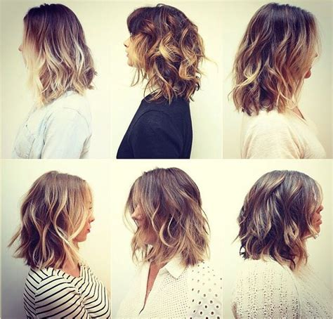 medium length hair with ombre highlights ombre shoulder length wavy hair google search hair